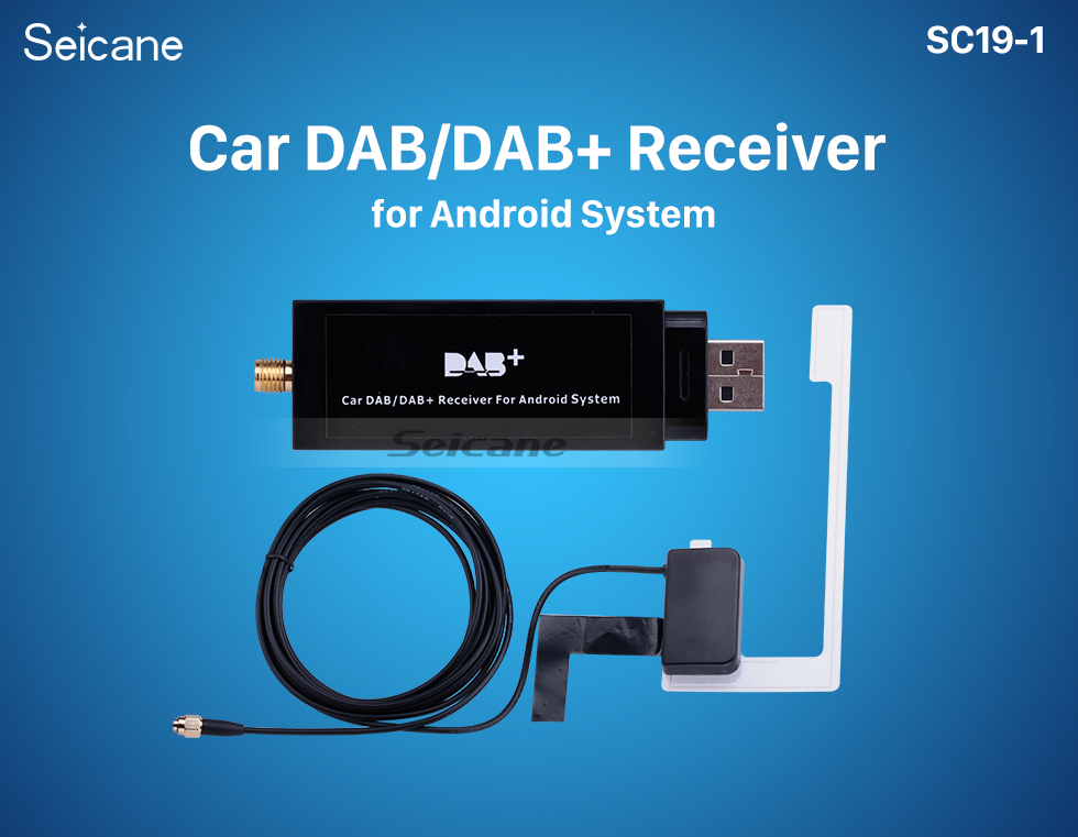 Seicane HD Car Digital Radio DAB + receptor de audio sintonizador de radio con función RDS interfaz USB