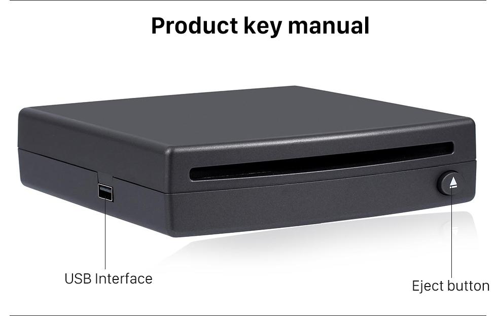 Product key manual Interface USB spécial haute qualité Universal Android externe voiture plein écran tactile Lecteur DVD