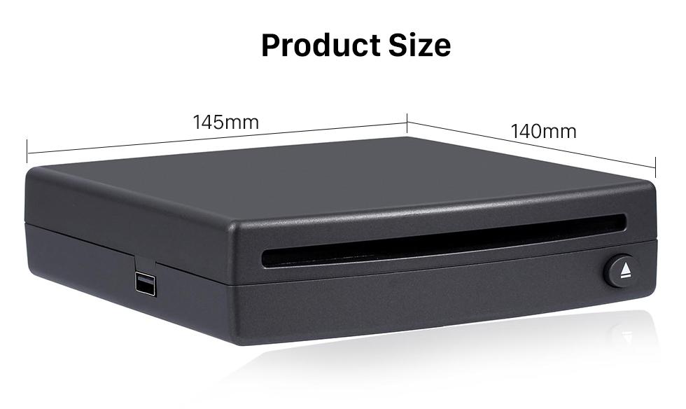 Product Size Interface USB spécial haute qualité Universal Android externe voiture plein écran tactile Lecteur DVD