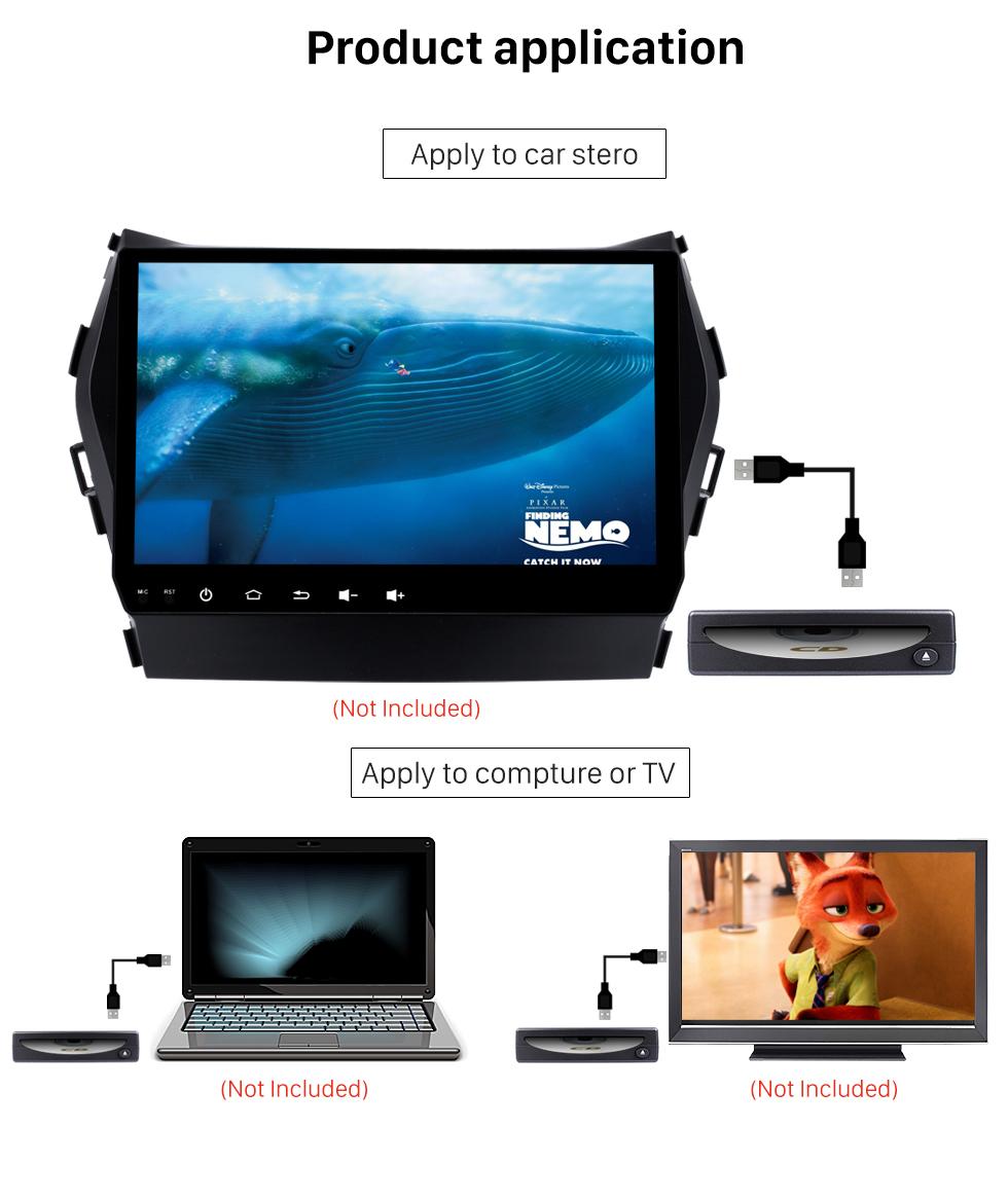 Product application Interface USB spécial haute qualité Universal Android externe voiture plein écran tactile Lecteur DVD
