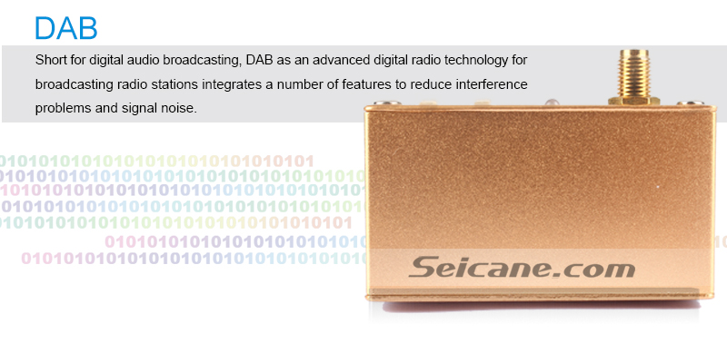 Seicane Mini Portable Digital Radio Receiver DAB+ Radio Tuner for Car DVD Player High Quality