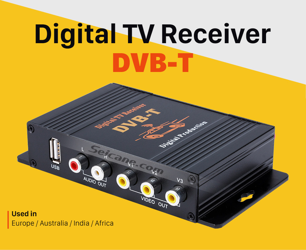 Seicane Car DVB-T Digital TV Tuner Box LCD/CRT VGA/AV Stick Tuner Box View Receiver Converter Drop Shipping