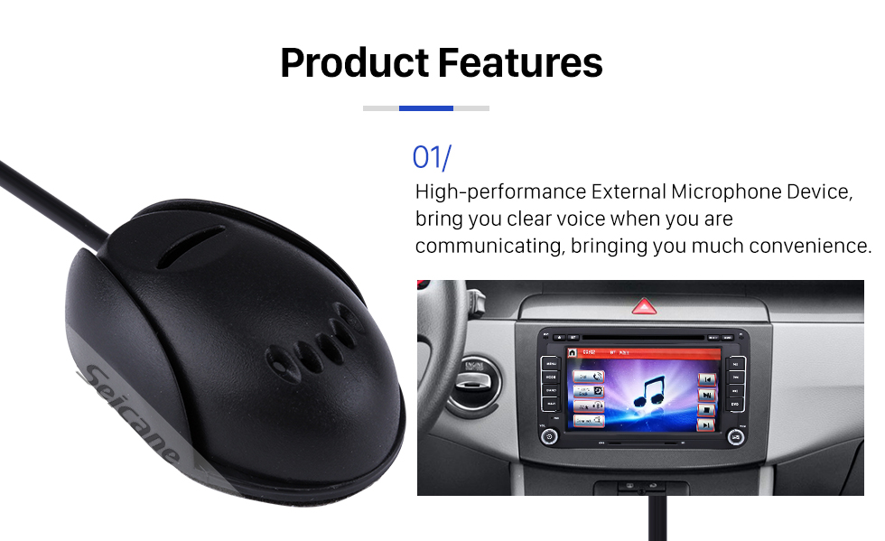 Seicane Universal Car Microphone Portable External Microphone Professional Outdoor lound Speaker for Car Radio Car DVD 3.5mm 50 Hz-20 kHz