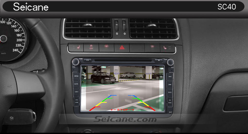 Seicane HD Car Rearview Camera Reverse Parking Backup Monitor Kit CCD CMOS with 8 LED