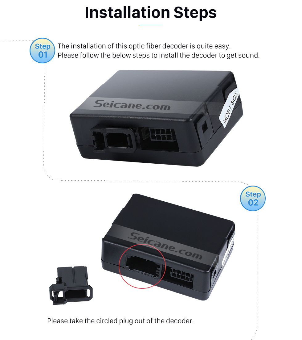 Seicane 2005-2012 Mercedes Benz ML Class W164 ML280 ML300 ML320 ML350 ML420 ML450 ML500 ML550 ML63 Car Optical Fiber Decoder Most Box Bose Harmon Kardon Converter Optic Interface