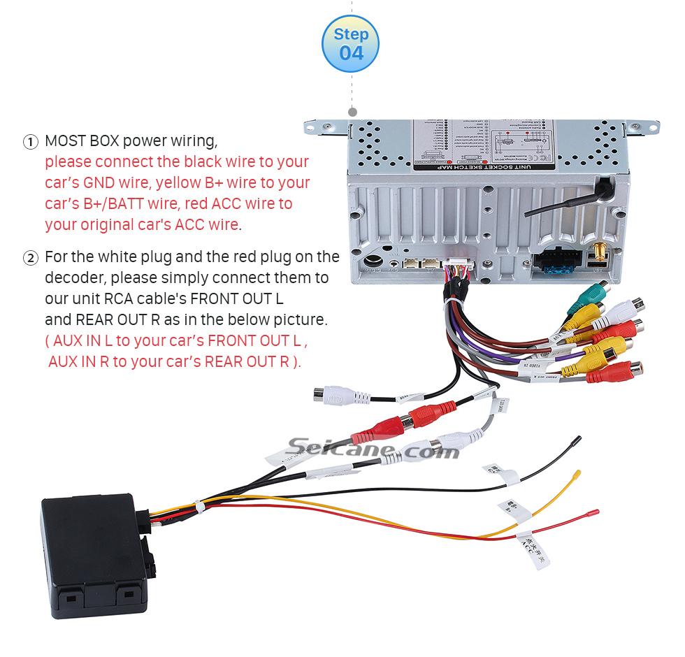 Seicane 2005-2013 Mercedes Benz R Class W251 R280 R300 R320 R350 R63 Car Optical Fiber Decoder Most Box Bose Harmon Kardon Audio Decode DAC Optic Interface