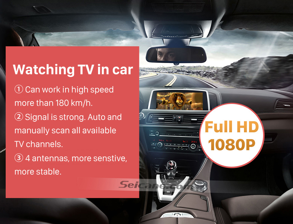 Seicane Seicane HDMI 1080P DVB-T2 4 Tuner Digital TV Receiver TV BOX For CAR DVD player