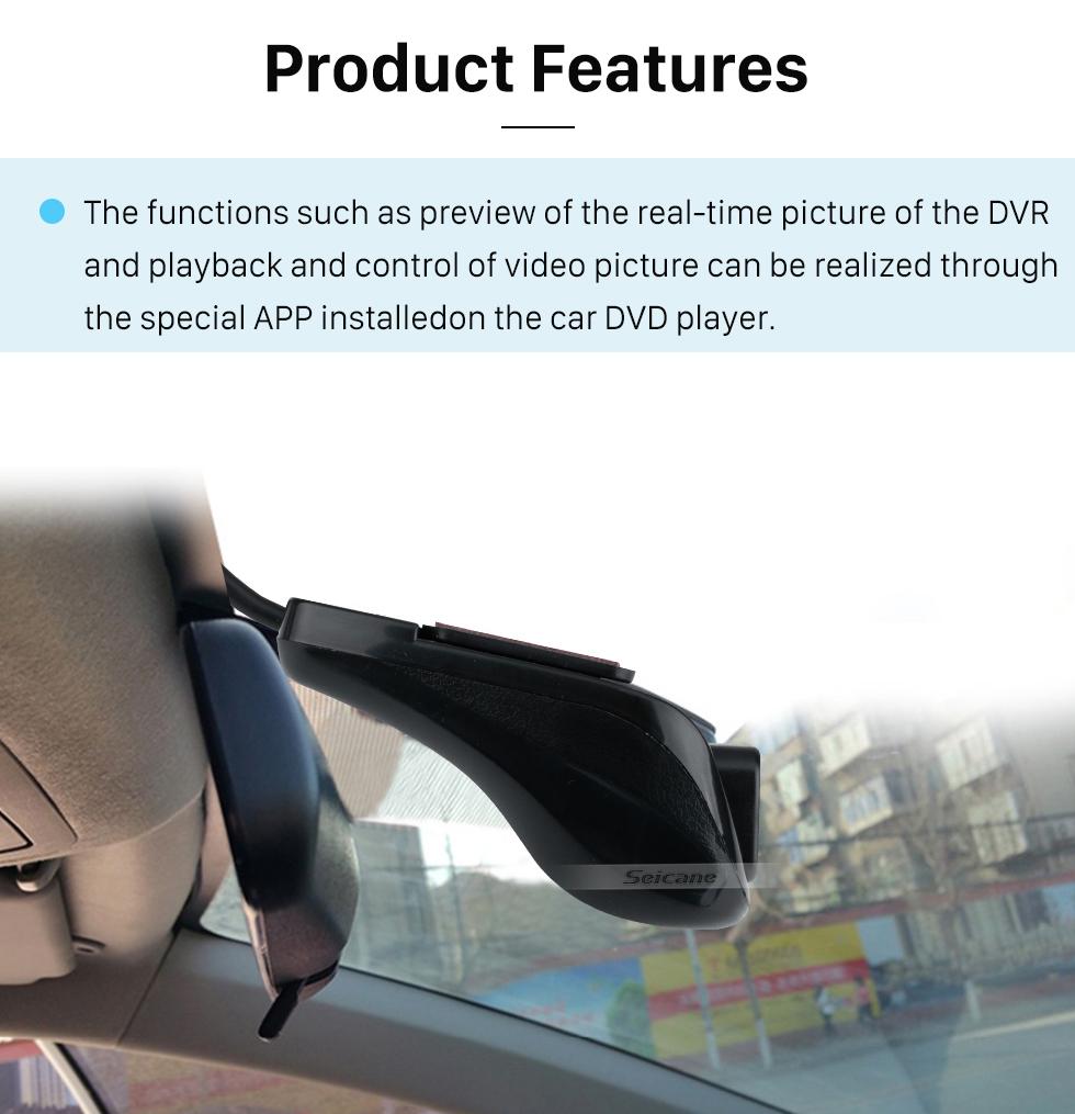 Seicane Vision nocturne Caméra DVR à grand angle USB de 170 degrés Enregistrement cyclique automatique