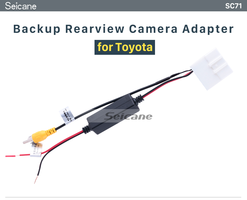 Seicane Toyota Backup Rearview Camera Adapter