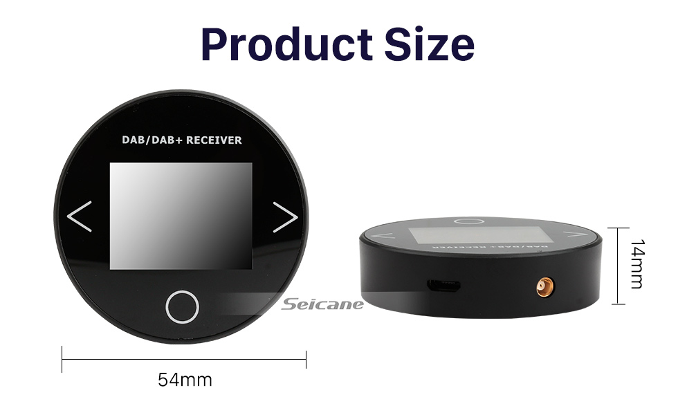 Seicane High-fidelity Sound Digital Audio receiver Car Kit DAB+ with RDS Function USB interface Omni-directional antenna
