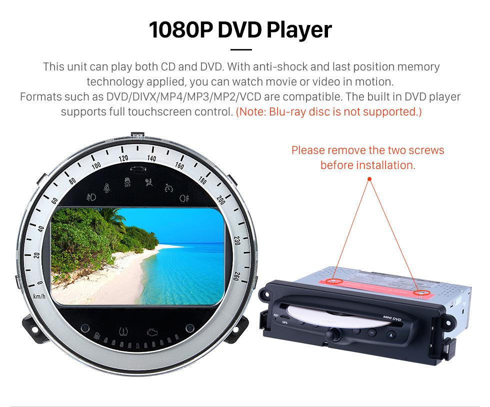 Seicane Android 10.0 Lecteur GPS de navigation GPS de voiture pour 2006-2013 BMW Mini Cooper avec radio Bluetooth 1080P vidéo USB SD caméra de recul TV DVR