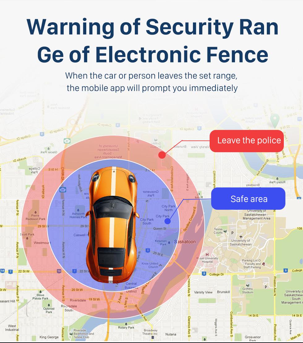 Seicane Universal-Auto GPS Remote Monitoring Locator Unterstützung GSM GPRS Location Tracking Alarm Device