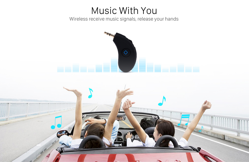 Music With You Wireless Bluetooth Music Audio Receiver Box Music Player with Hands-free calling