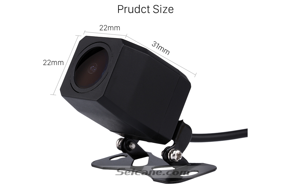 Prudct Size  170 Degree Wide Angle Starlight HD Night Vision Rearview Camera Waterproof Parking Assistance system for Car Radio Big Screen