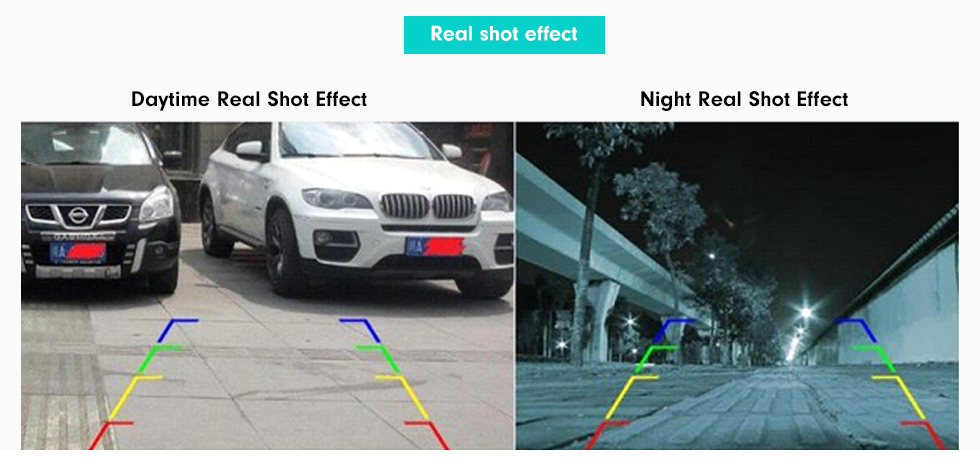 Real shot effect 170 Degree Wide Angle Starlight HD Night Vision Rearview Camera Waterproof Parking Assistance system for Car Radio Big Screen