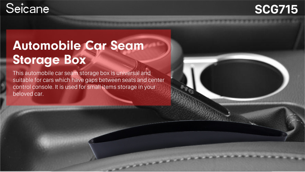 Seicane Multifunctional Accessories Car Seam Storage Box Automobile Insert Free Box Container