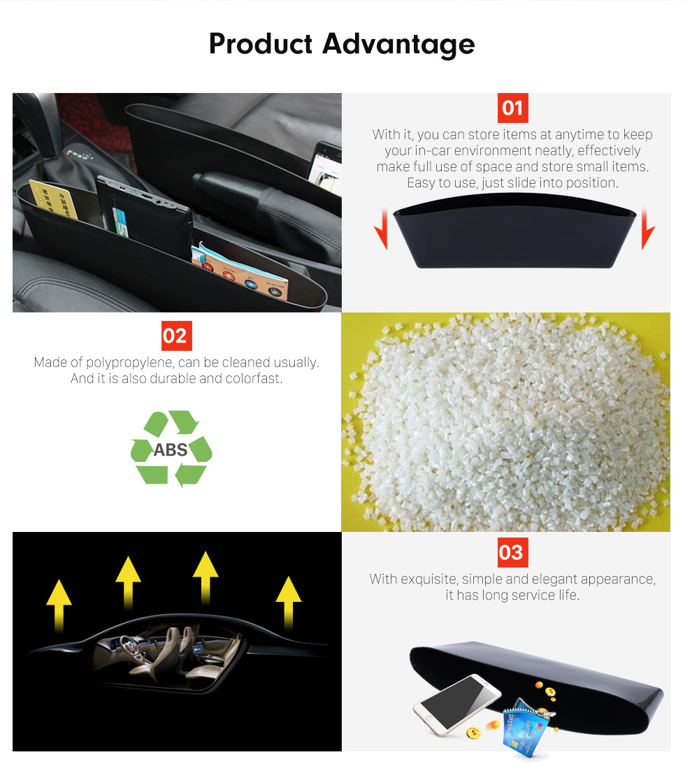 Product Advantage Acessórios Multifuncionais Caixa de Armazenamento de Carne Automóvel Inserir Contentor de Caixa Livre