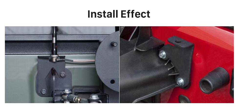Seicane Acessórios de carro Kit de segurança para pega de suporte de barra de rolagem para Jeep Wrangler