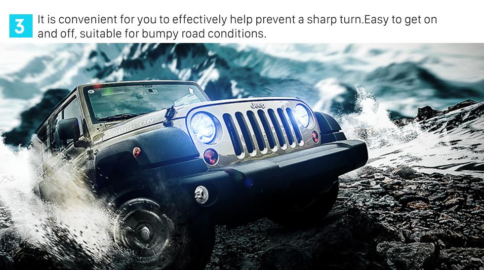 Seicane Support de nylon épais Bras de rouleau Ensemble de poignée de support latéral pour Jeep Wrangler / Véhicules universels Accessoires de voiture