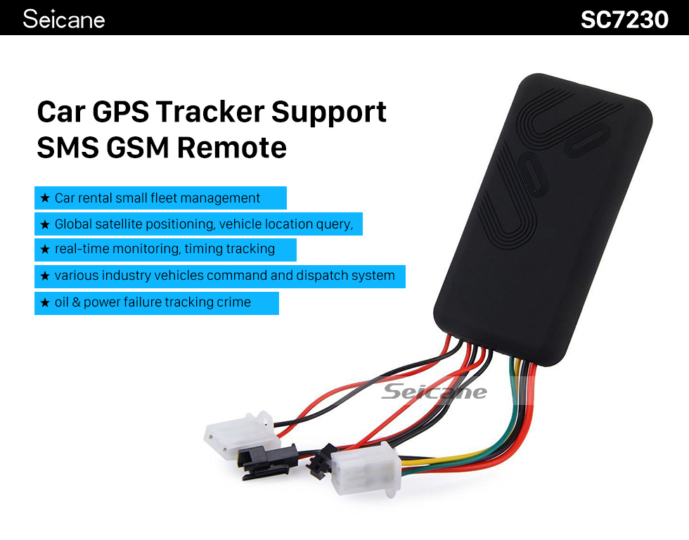 Seicane Car GPS Location Tracker Support SMS GSM Tracking Alarm Device Remote Control Locator