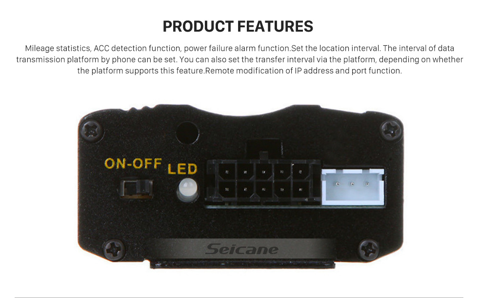 Seicane GPS Location Tracking Device System Support GSM GPRS Car Tracker Alarm Remote Monitoring Locator