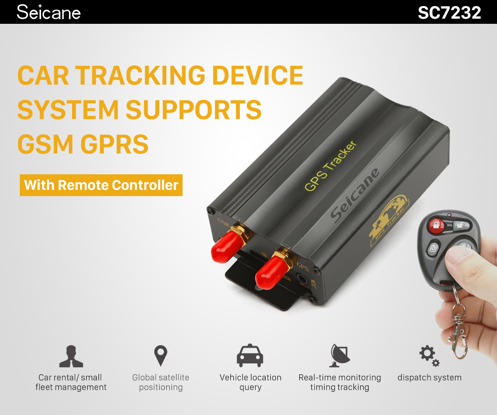 Seicane Universal Car GPS Remote Monitoring Locator Support GSM GPRS Location Tracking Alarm Device