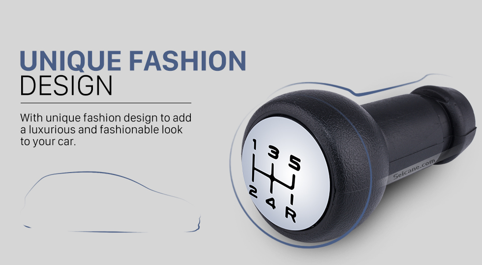 Seicane High Quality PVC Gear Shift Knob for Peugeot 106 206 306 406 107 207 307 5 Speed Manual Shifter