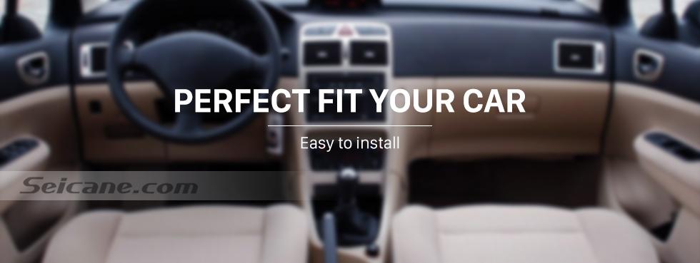 Seicane Negro 5 velocidades Manual Shifter cuero PU PVC Gear Shift perilla para Peugeot 307 con cubierta a prueba de suciedad