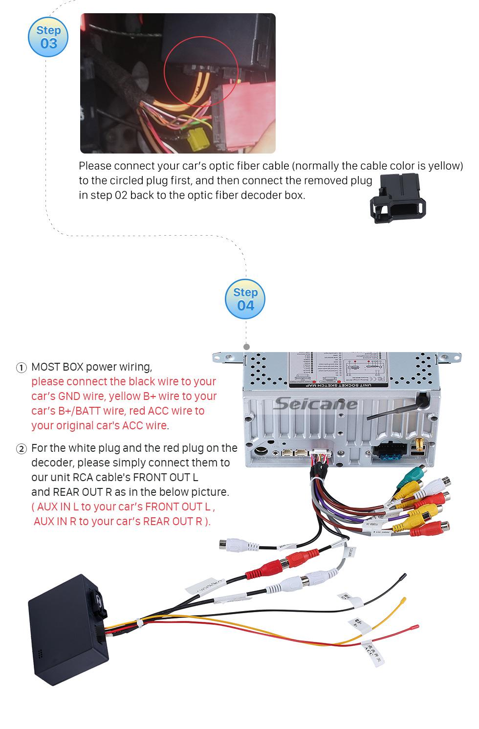 Seicane 2003-2012 Porsche Cayenne voiture décodeur de fibre optique plus boîte Bose Harmon Kardon amplificateur audio numérique convertisseur d'interface optique
