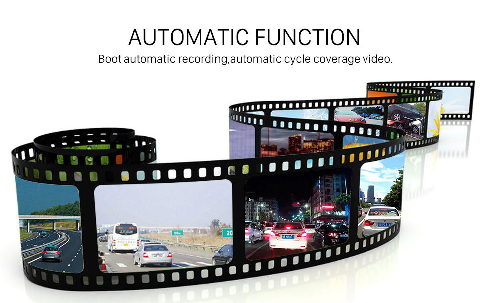 Seicane Visão noturna gravação cíclica automática da câmara de vídeo de USB do ângulo HD de 170 graus grande