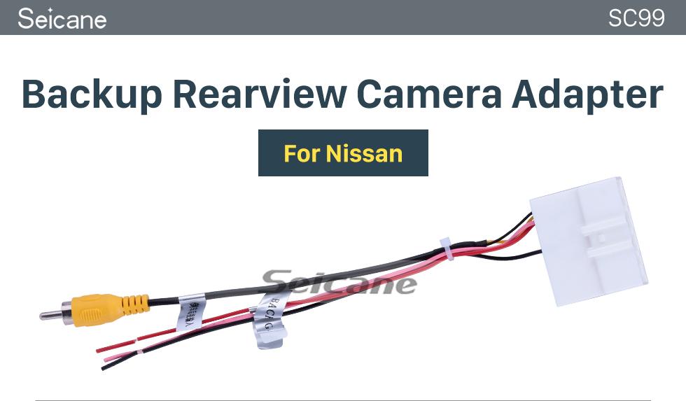 Seicane Adaptateur de caméra de recul Nissan