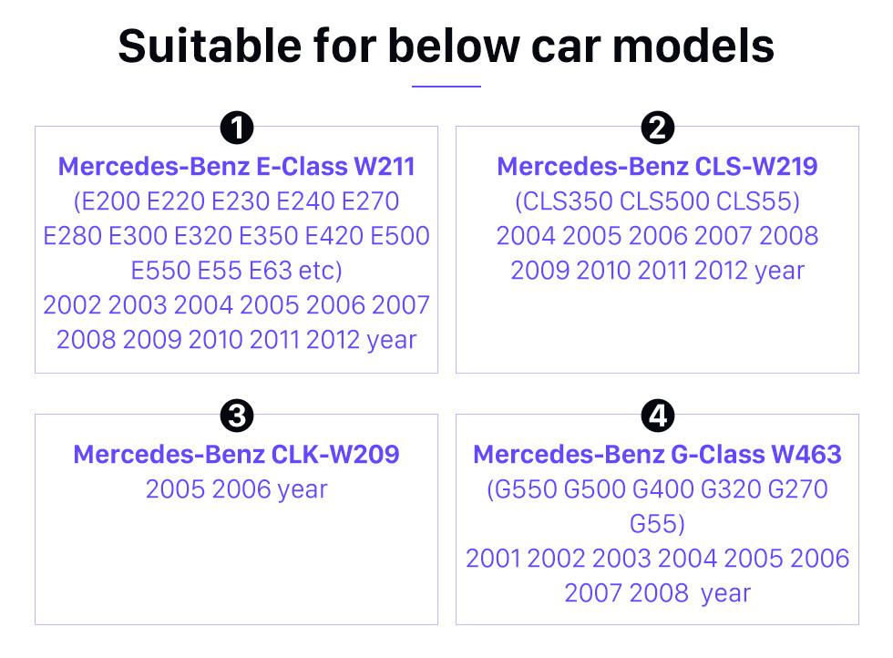 Seicane 2001-2008 Mercedes-Benz Classe G W463 G550 G500 G400 G320 G270 G55 Decodificador de fibra óptica do carro A maioria das caixas Bose Harmon Kardon Conversor de áudio Interface óptica