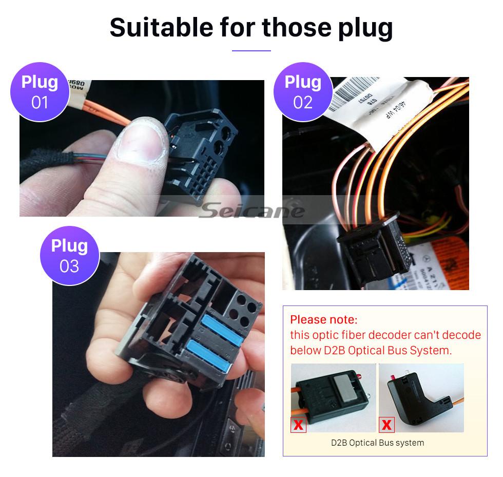 Seicane 2001-2008 Mercedes-Benz G-Class W463 G550 G500 G400 G320 G270 G55 Car Optical Fiber Decoder Most Box Bose Harmon Kardon Audio Converter Optic Interface