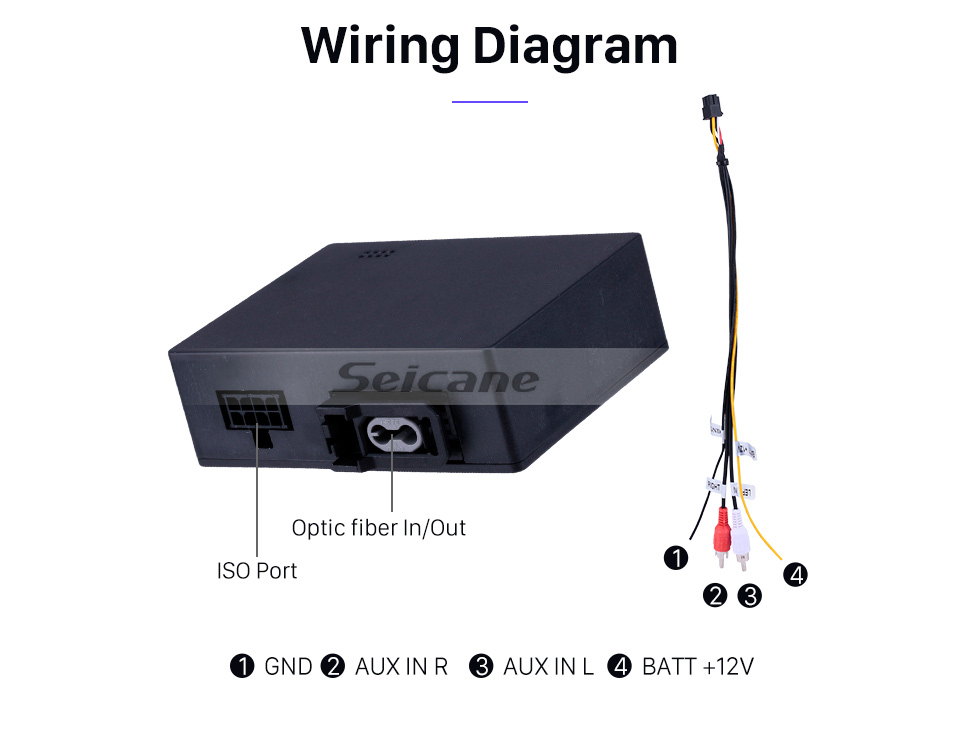 Seicane 2001-2008 Mercedes-Benz SL R230 SL350 SL500 SL55 SL600 SL65 Car Optical Fiber Decoder Most Box Interface Bose Harmon Kardon Digital Audio DAC Amplifier