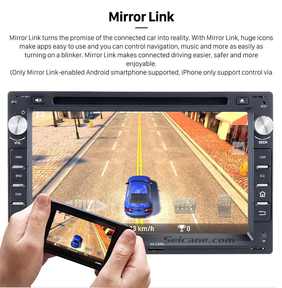 Seicane 7 inch Pure Android 8.0 Radio GPS Navigation System for 1997-2004 VW Volkswagen Golf 4 with DVD 3G WiFi Bluetooth OBD2 Mirror Link Reverse Camera 1080P