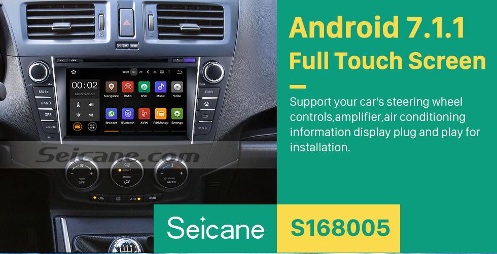 Seicane 2009-2012  Mazda  PREMACY Android 7.1.1  DVD player Radio GPS navigation system Quad-core CPU 16G Flash Mirror link  multi-touch screen OBD DVR  Backup camera TV 3G WIFI USB SD Bluetooth