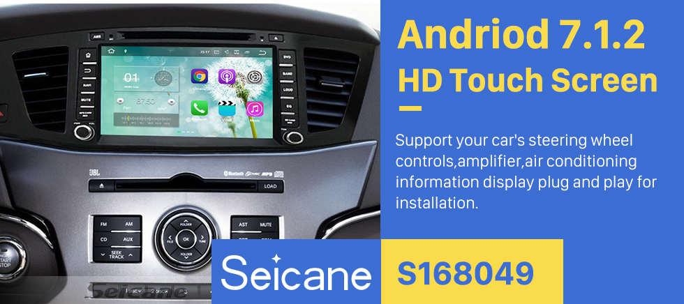 Seicane All-in-One Android 5.1.1 8 inch GPS navigation system for 2009-2012 KIA K7 with HD 1024*600 touch screen Radio DVD player Bluetooth OBD2 DVR  Rearview camera TV 3G WIFI Steering Wheel Control USB SD 1080P Video Quad-core CPU Mirror link