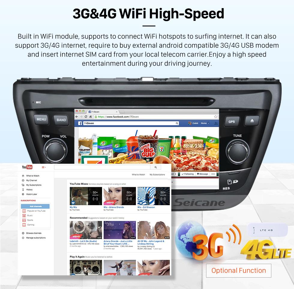 Seicane Reposição 2013 2014 Suzuki S Cross Android 5.1.1 Rádio leitor de DVD sistema de navegação GPS LinkMirror GPS HD 1024*600 Ecrã Tátil Bluetooth OBD2 DVR Retrovisor Câmera tv 1080P Vídeo 3G WIFI Controle de volante USB SD Quatro núcleos CPU