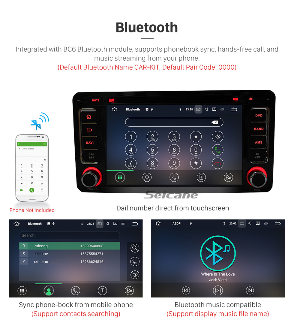Seicane 2012-2015 Mitsubishi OUTLANDER Android 5.1.1 DVD player Radio GPS navigation system Bluetooth touch screen Mirror link OBD2 DVR Rearview camera TV 1080P Video 3G WIFI  Steering Wheel Control USB SD Quad-core CPU