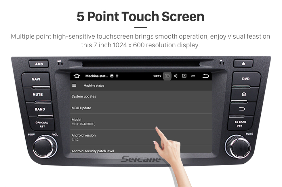 Seicane OEM Quad-core Android 5.1.1 Radio DVD player navigation system for Geely GX7 with  GPS Bluetooth HD 1024*600 touch screen OBD2 DVR Rearview camera TV 1080P Video 3G WIFI USB SD Steering Wheel Control Mirror link