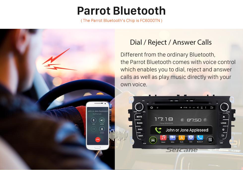 Seicane 2008-2010 Ford Focus Android 5.1.1 Radio GPS DVD player HD 1024*600 touch screen Navigationssystems Bluetooth OBD2 DVR Rückfahr kamera TV 1080P Video 3G WIFI Lenkrad-Steuerung  USB SD Vier Kern CPU Spiegel-Verbindung