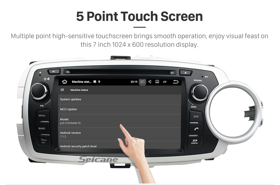 Quad-core Android 5 1 1 car dvd player GPS navigation system for