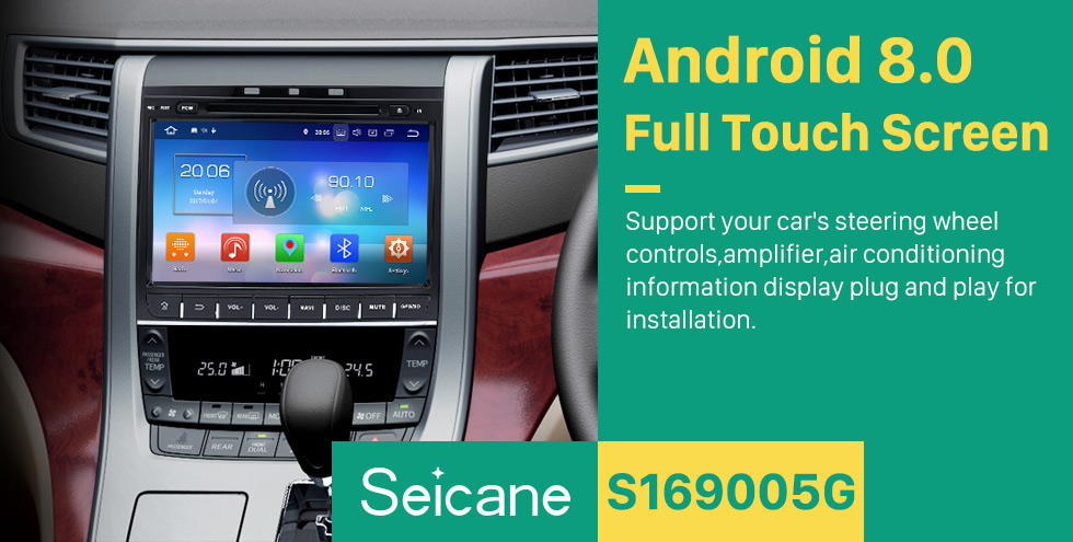 Seicane 9 inch Android 8.0 GPS navigation system for 2007-2014 TOYOTA Alphard Vellfire 350Z G with  DVD player Bluetooth  Radio Mirror link multi-touch screen OBD DVR Rearview camera TV USB SD WIFI