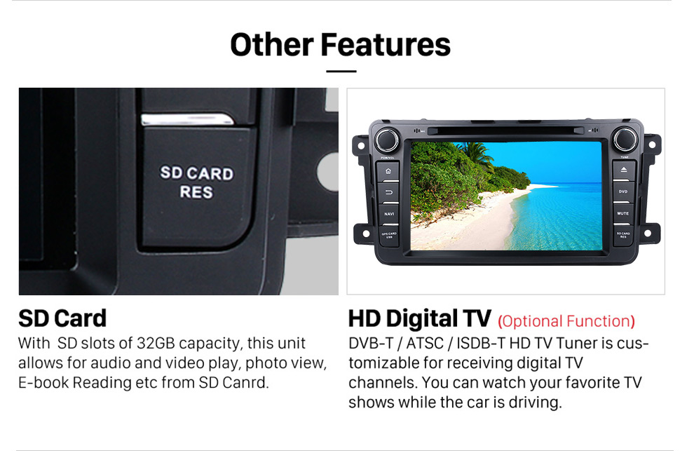 Seicane OEM Android 9.0 2007-2016 MAZDA CX-9 with Aftermarket GPS Navigation DVD Player Car Stereo Touch Screen WiFi 3G Bluetooth OBD2 AUX Mirror Link Backup Camera