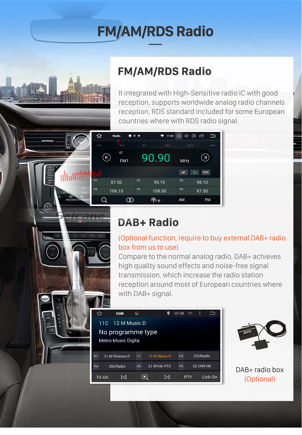Seicane 2004-2010 Nissan TIIDA Android 8.0 Radio GPS Navigation System with DVD Player WIFI Bluetooth Mirror link Touch Screen OBD2 DVR Backup Camera  TV 4G USB SD 1080P Video