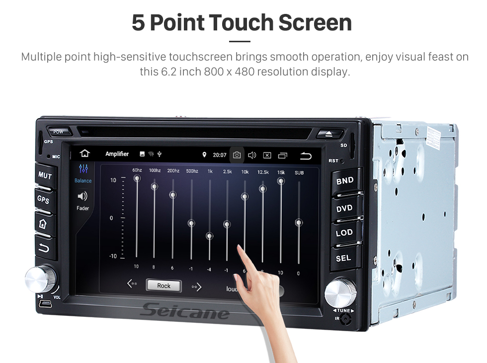 Seicane Android 8.0 Touch Screen Radio GPS Navigation System for 2005-2010 Nissan PATHFINDER with Bluetooth DVD Player Mirror link OBD2 Rearview Camera DVR TV 4G WIFI USB 1080P Video
