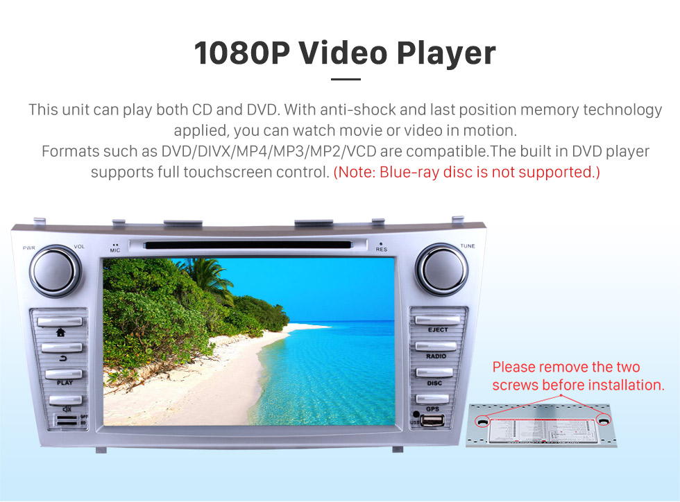 8 Inch Android 8 0 HD Touchscreen Head Unit For 2007 2008 2009 2010