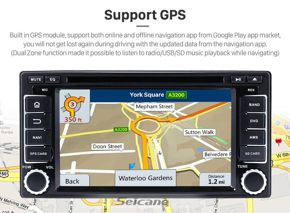 Seicane OEM Android 8.0 2008-2013 Subaru Forester Impreza Radio Bluetooth GPS Navigation DVD Player Car Stereo Support 1080P Video Backup Camera Steering Wheel Control