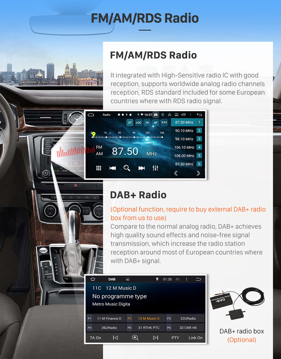 Seicane Aftermarket Android 8.0 Radio GPS  Navigation System for 2004-2010 KIA Sportage with  DVD Player Touchscreen OBD2 DVR Rearview camera TV 1080P Video 3G WIFI Bluetooth USB SD Steering Wheel Control Mirror link