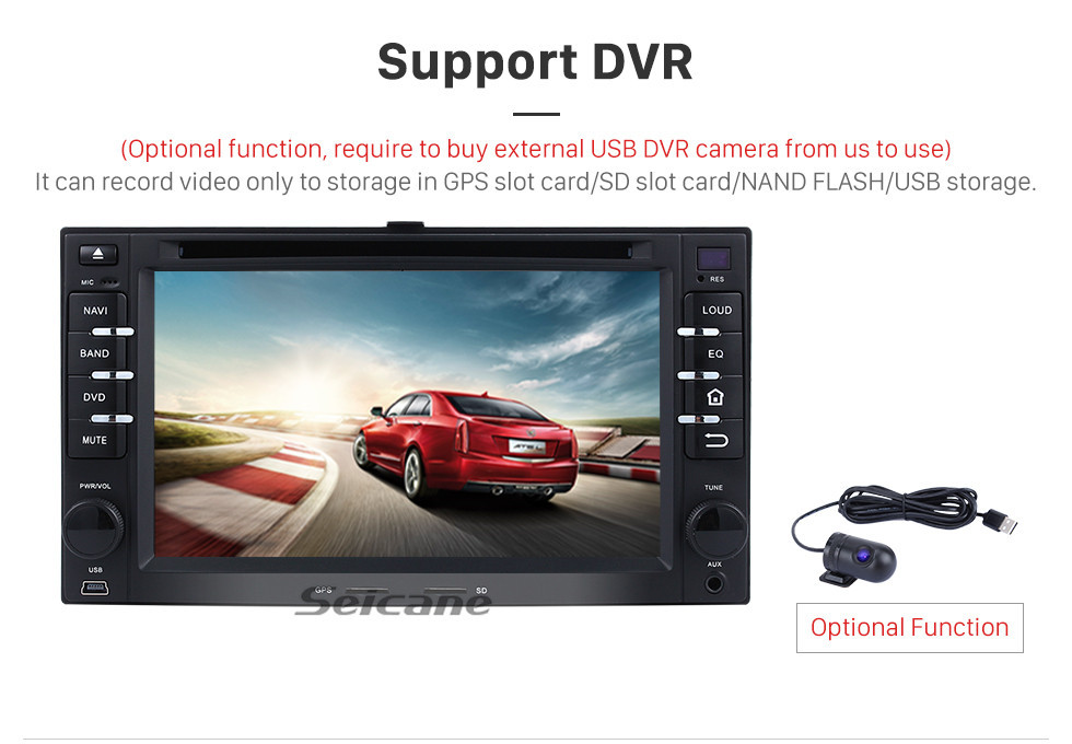 Seicane Android 9.0 GPS Radio Bluetooth DVD  for 2005-2011 KIA Rio Rio5 with Touchscreen Navigation System  OBD2 DVR Rearview camera TV 1080P Video USB SD CANBUS 3G WIFI Steering Wheel Control Mirror link
